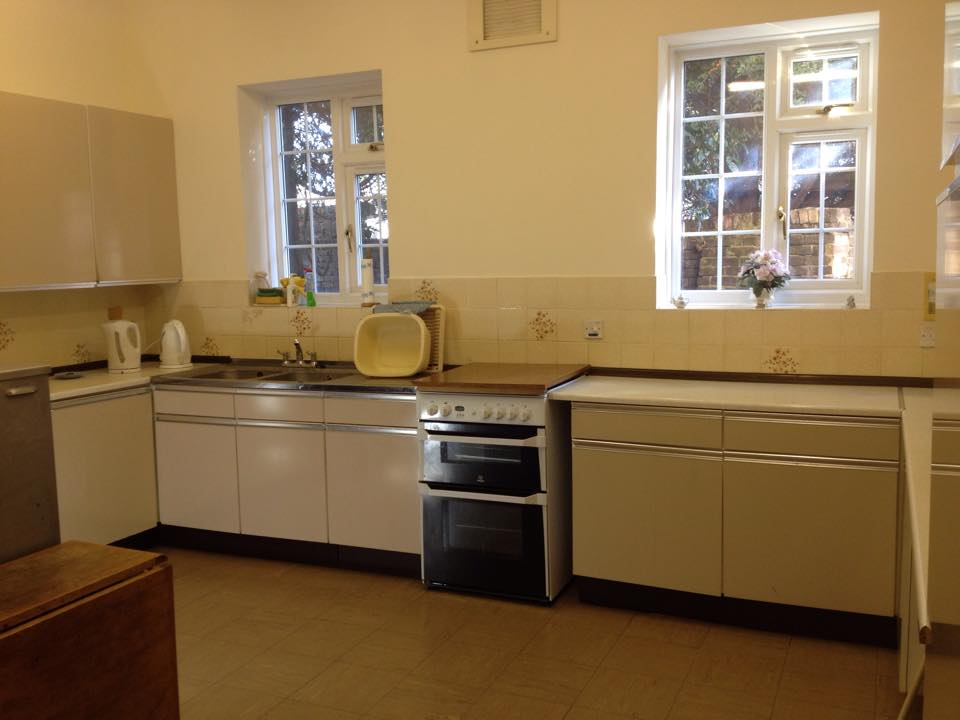 The kitchen on the ground floor at Hounslow URC